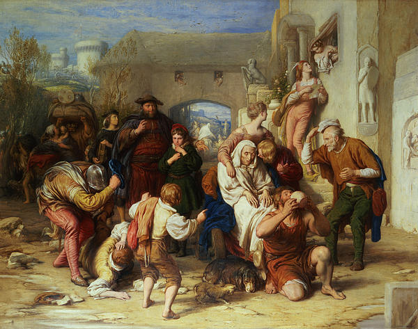 The Seven Ages Of Man Print by William Mulready
