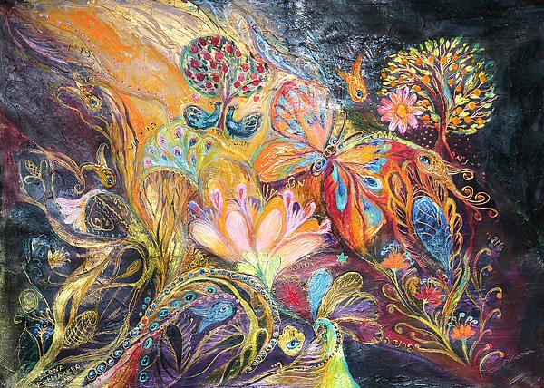 The Shining Of The Orange Tree Print by Elena Kotliarker