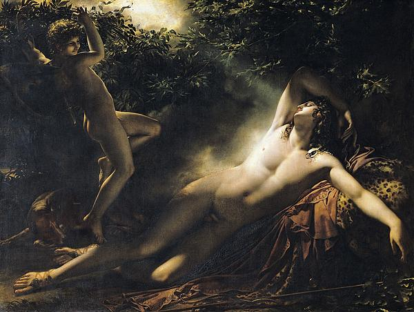The Sleep Of Endymion Print by Anne Louis Girodet de RoucyTrioson