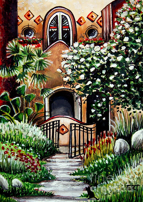 The Spanish Gardens Print by Elizabeth Robinette Tyndall