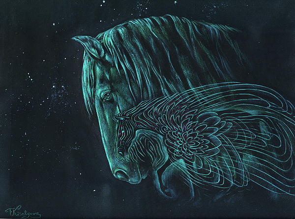 The Spirit Horse Print by Tatiana Kiselyova