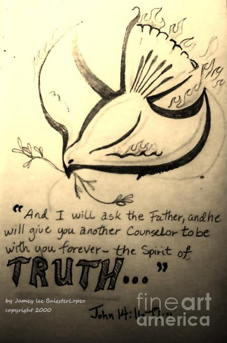 The Spirit Of Truth Drawing  - The Spirit Of Truth Fine Art Print