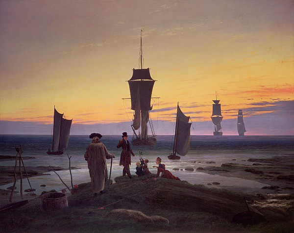 The Stages Of Life Print by Caspar David Friedrich