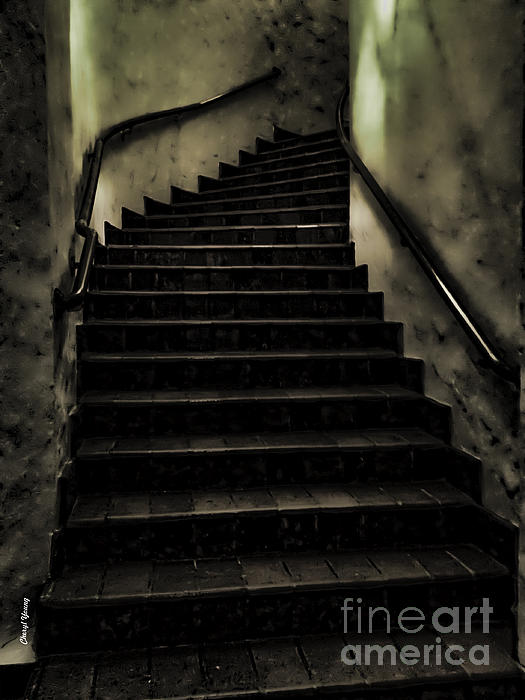 The Stairwell Print by Cheryl Young