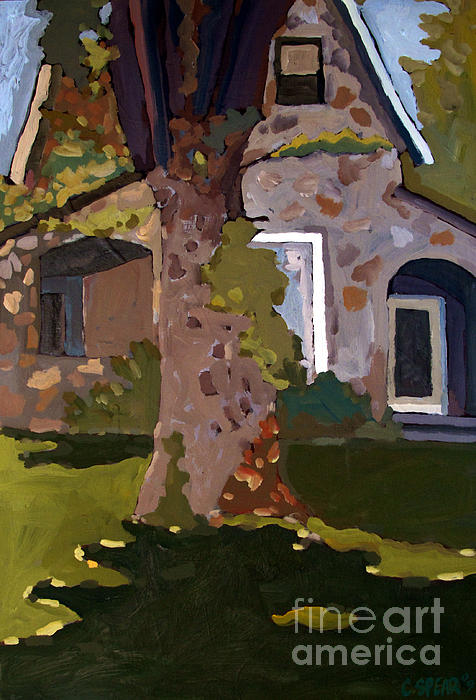 The Stone House On Laughing Waters Print by Charlie Spear