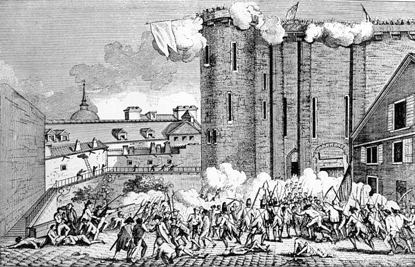 The Storming Of The Bastille, 1789 Print by Everett