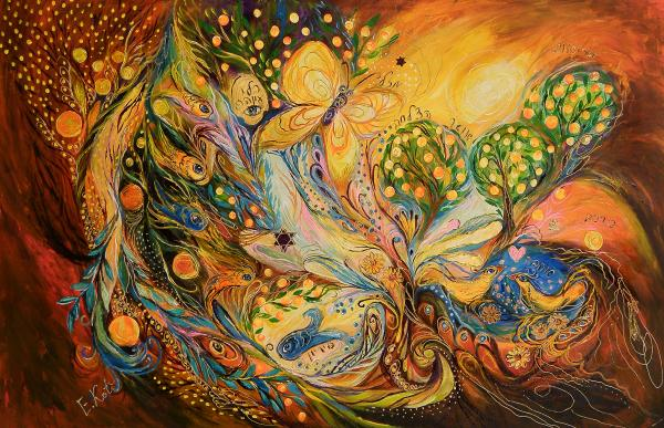 The Story Of The Orange Garden Print by Elena Kotliarker