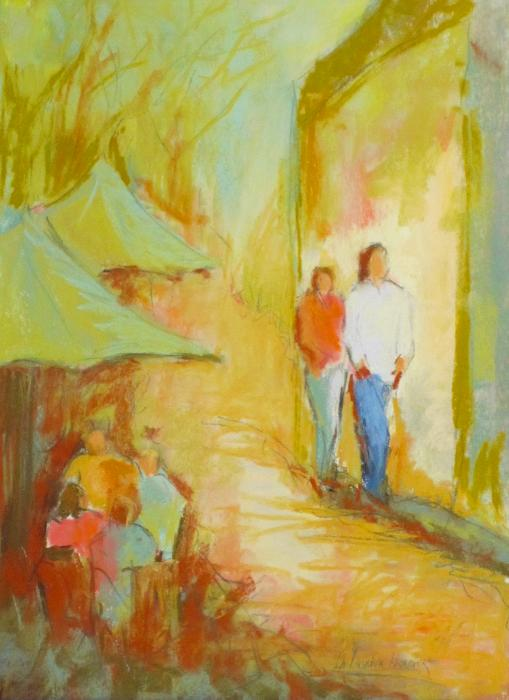 The Stroll Painting  - The Stroll Fine Art Print