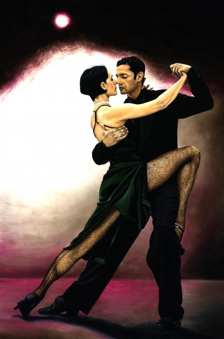 The Temptation Of Tango Print by Richard Young