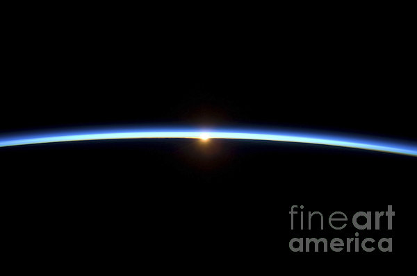 The Thin Line Of Earths Atmosphere Print by Stocktrek Images