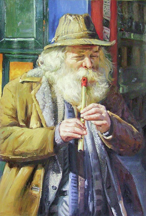 The Tin Whistle Painting  - The Tin Whistle Fine Art Print