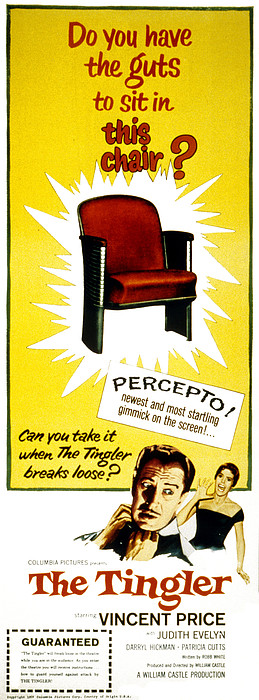 The Tingler, Vincent Price, Patricia Print by Everett