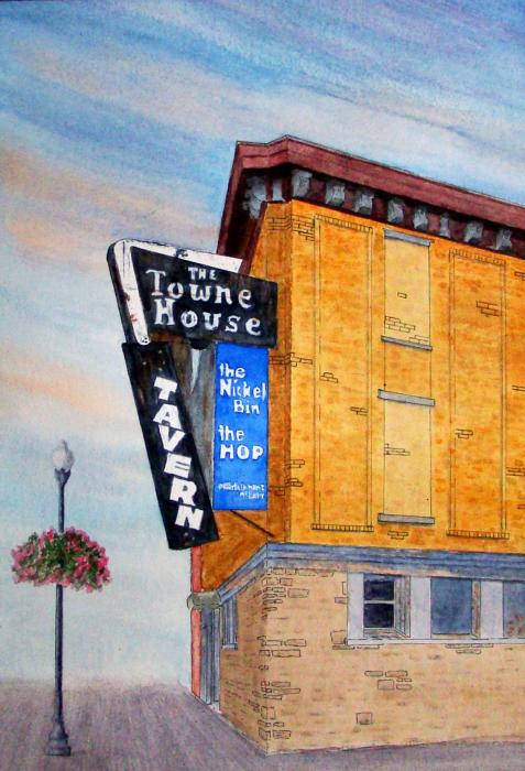 The Towne House Painting  - The Towne House Fine Art Print