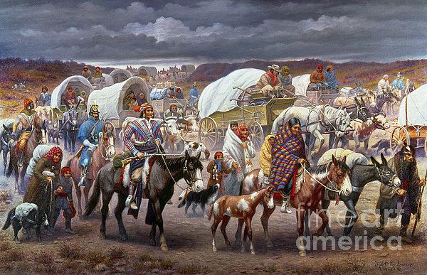 The Trail Of Tears Print by Granger