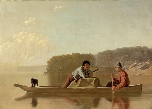 The Trapper's Return Print by George Caleb Bingham
