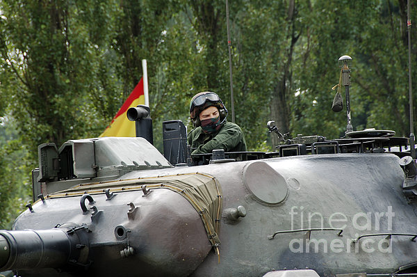 The Turret Of The Leopard 1a5 Mbt Print by Luc De Jaeger