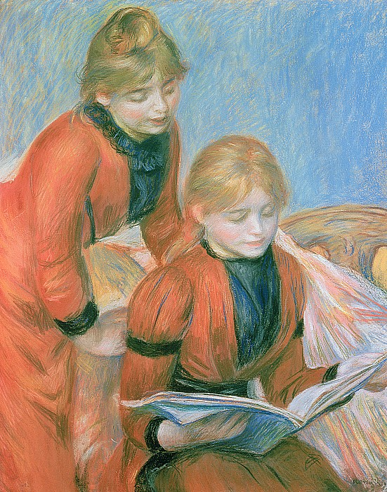 The Two Sisters Print by Pierre Auguste Renoir