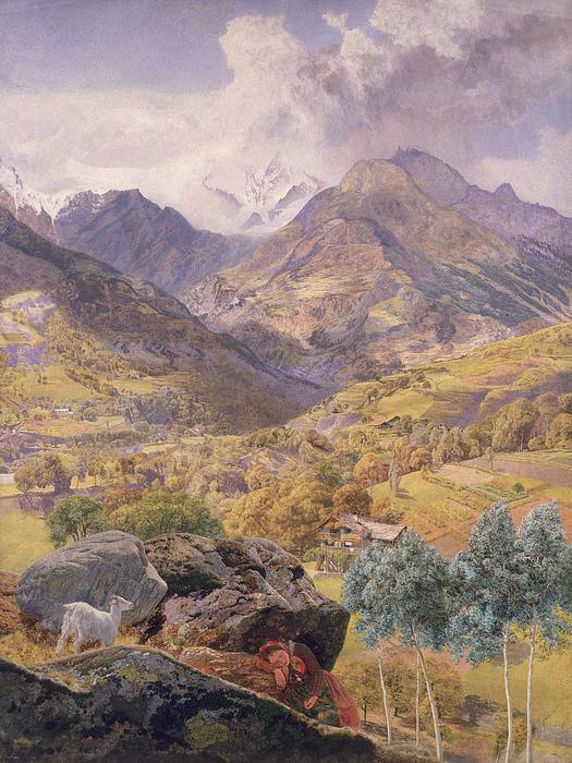 The Val D'aosta Print by John Brett