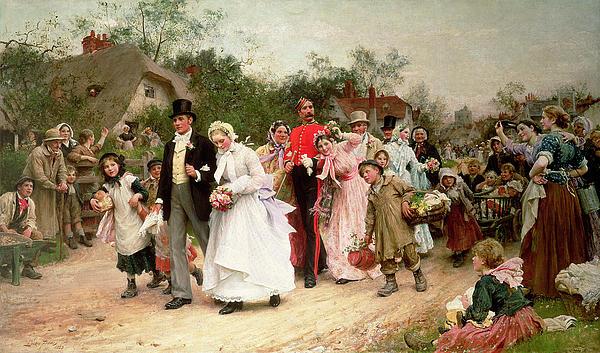 The Village Wedding Print by Sir Samuel Luke Fildes