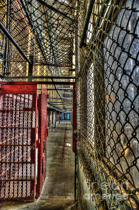 The West Virginia State Penitentiary Cell Hallway Print by Dan Friend