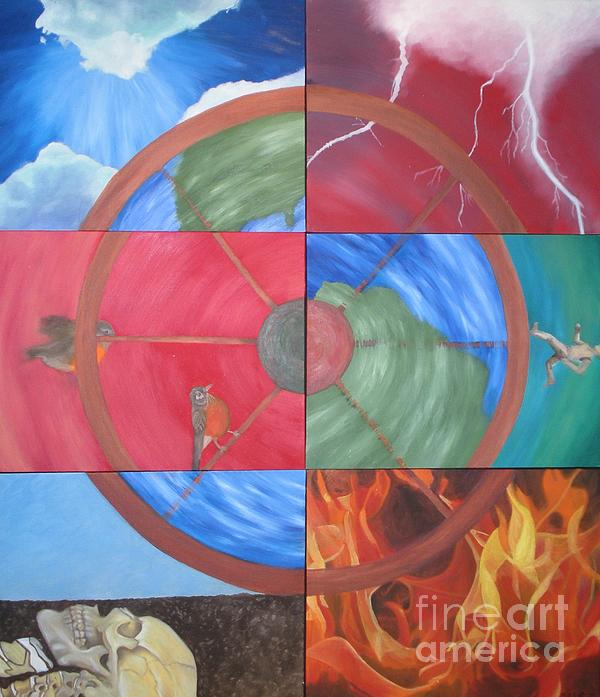The Wheel Print by Meg Goff