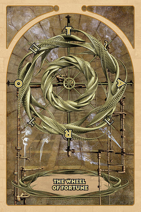 The Wheel Of Fortune Print by John Edwards