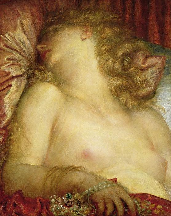 The Wife Of Plutus Print by George Frederic Watts