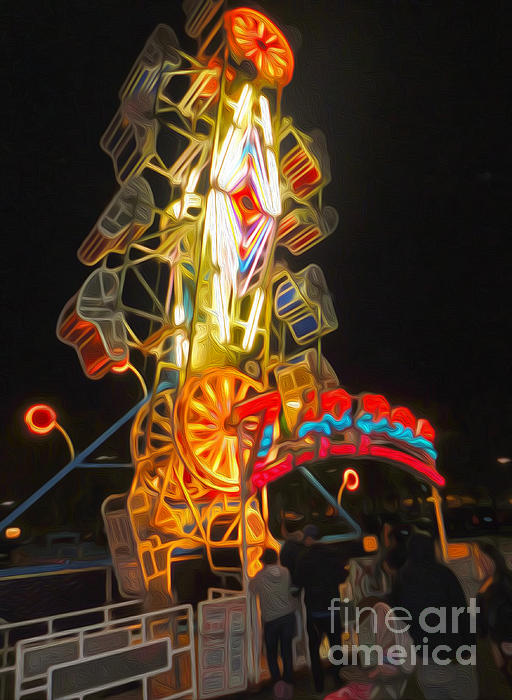 The Zipper - Carnival Ride Print by Gregory Dyer