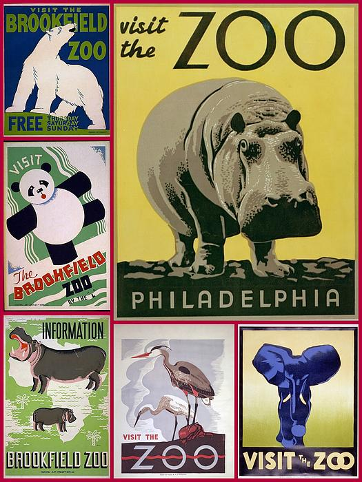 Don Struke - The Zoo 1930s and 1940s Poster Art