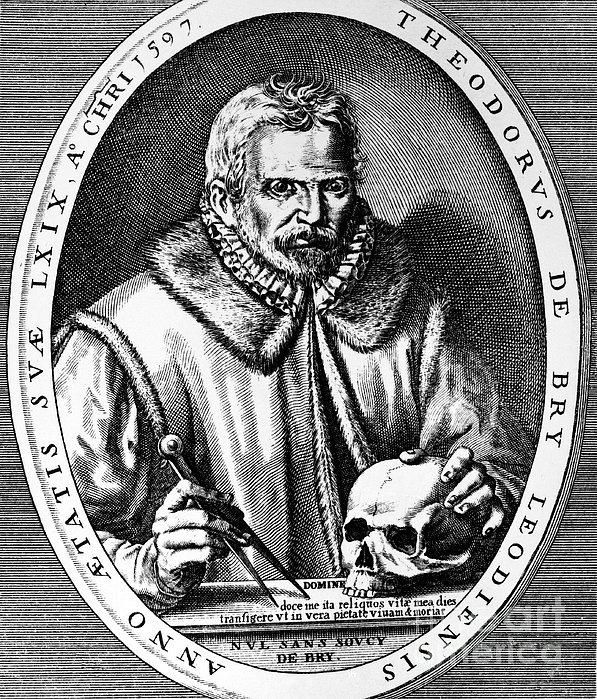 Theodor De Bry (1528-1598) Print by Granger