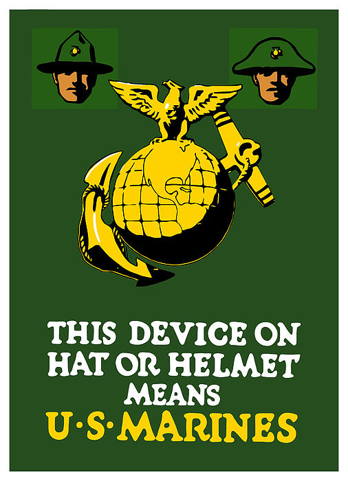 This Device Means Us Marines  Print by War Is Hell Store