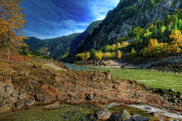 This Is British Columbia No.47 - Where Two Rivers Join Photograph  - This Is British Columbia No.47 - Where Two Rivers Join Fine Art Print