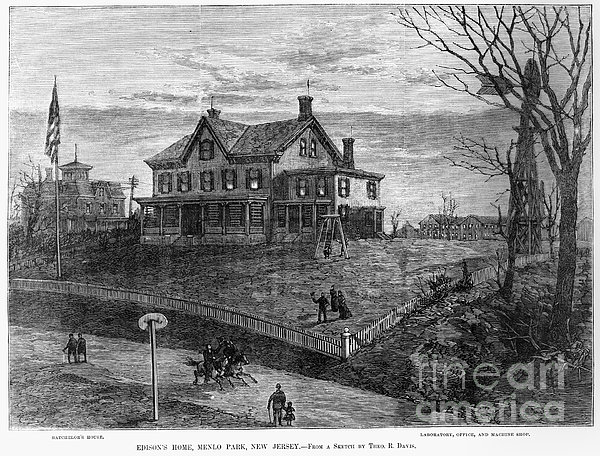Thomas Edison Residence Print by Granger