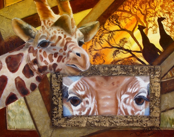 Abstract Giraffe Painting