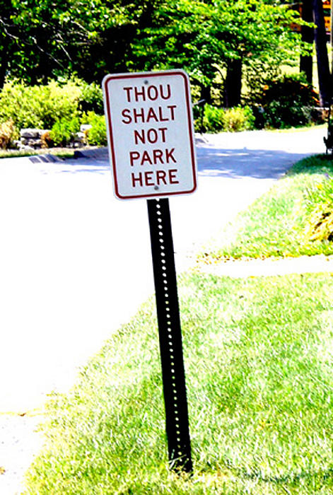 Thou Shalt Not Park Here Print by Seth Weaver