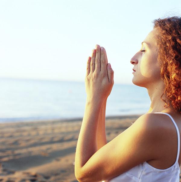 Thoughtful Woman Meditating Print by Cristina Pedrazzini
