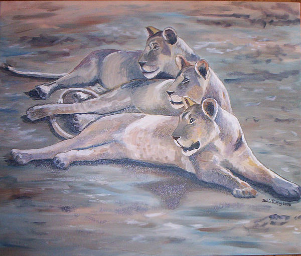 Julie Brugh Riffey - Three Lionesses