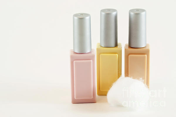 Three Makeup Bottles Print by Blink Images