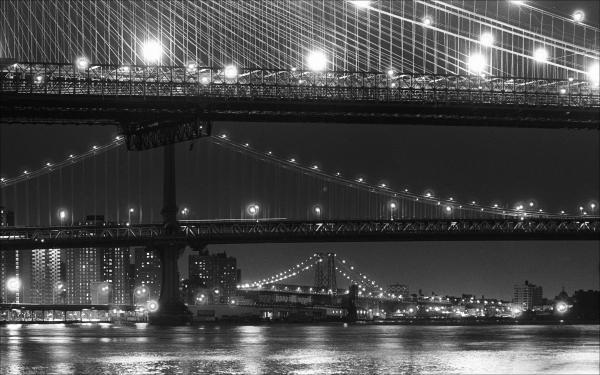 Three New York Bridges 2 Print by Robert Ullmann