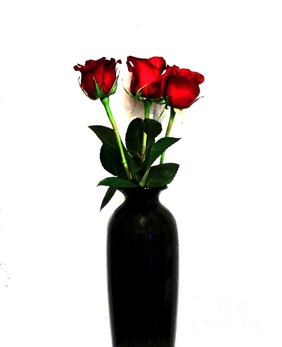 Three Roses Print by Marsha Heiken