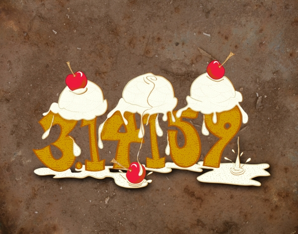 Three Scoops Of Pi Print by Laura Brightwood