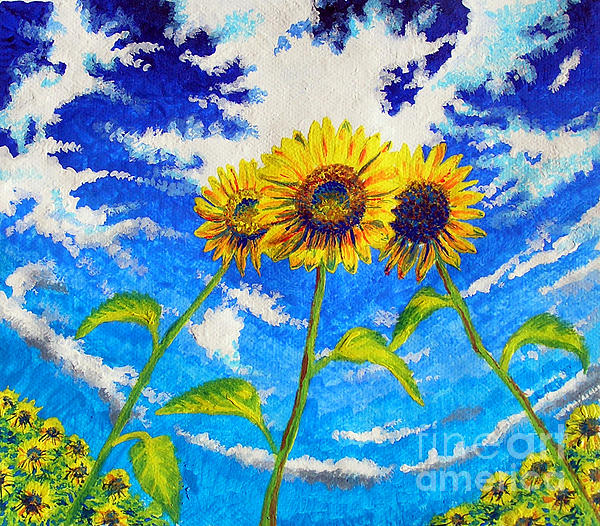 Jose Miguel Barrionuevo - Three sunflowers
