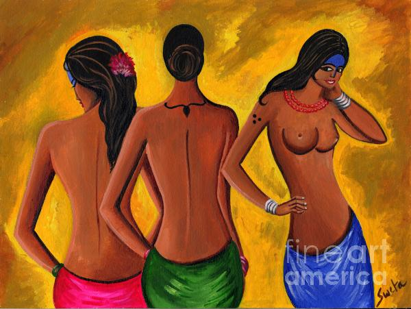 Three Women - 2 Print by Sweta Prasad