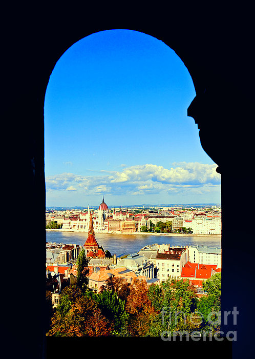 Through An Arch In Budapest Print by Madeline Ellis