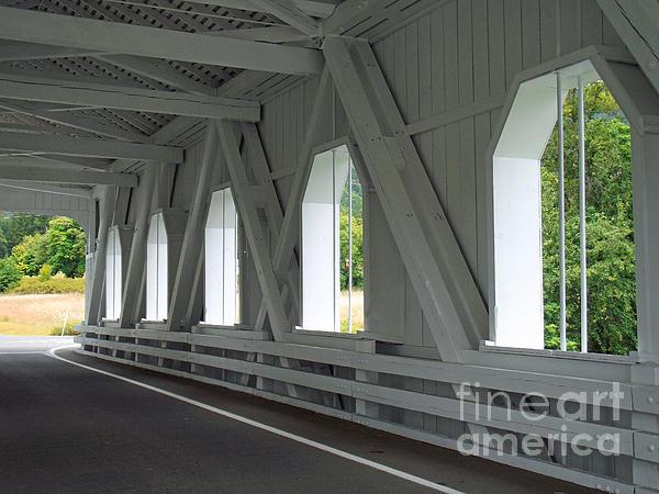 Through The Bridge Print by Methune Hively