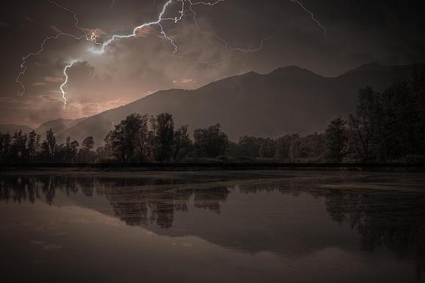 Thunder Storm Print by Joana Kruse