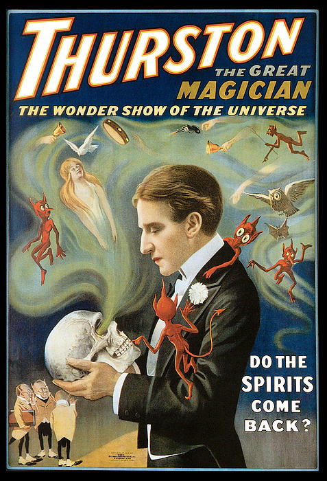 Thurston The Great Magician Print by Unknown