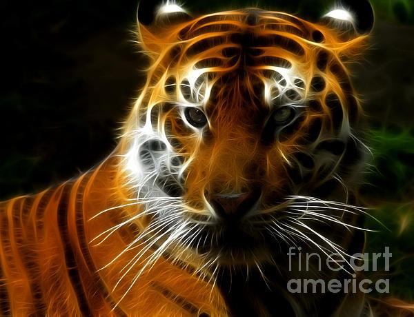 Tiger Portrait Print by Katja Zuske