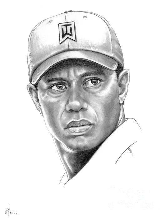 Tiger Woods Print by Murphy Elliott