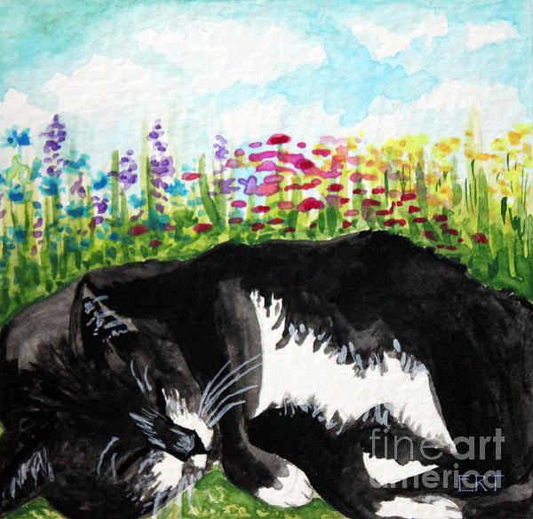 Time For A Snooze Print by Elizabeth Robinette Tyndall